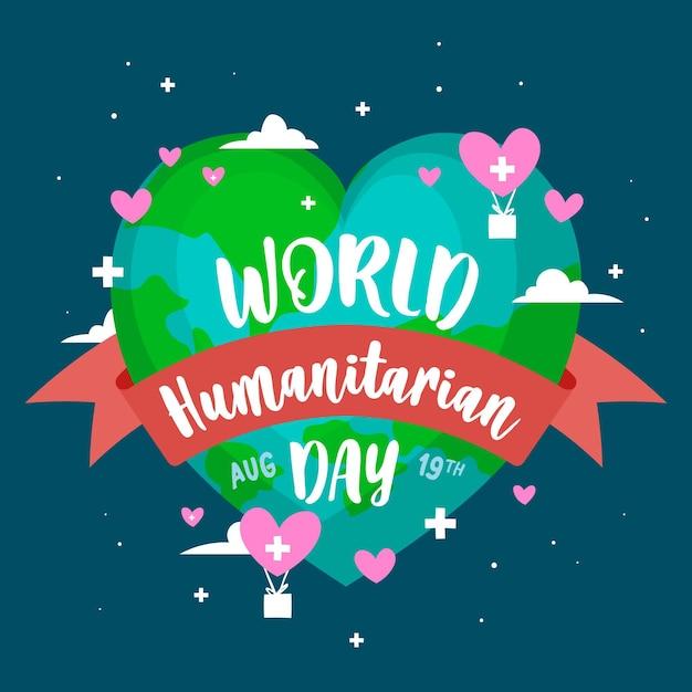 Dia humanitário mundial de mão desenhada Vetor grátis