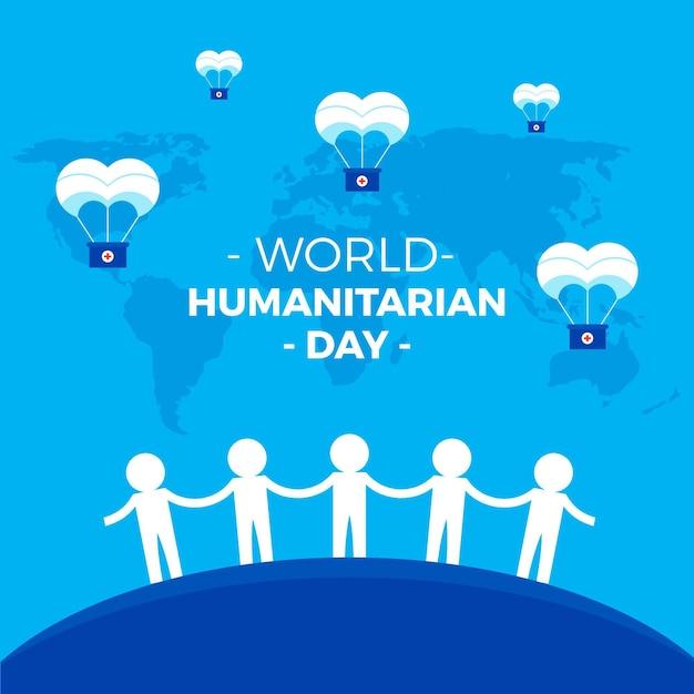 Dia humanitário mundial Vetor grátis