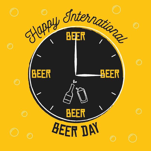 Dia internacional da cerveja Vetor grátis
