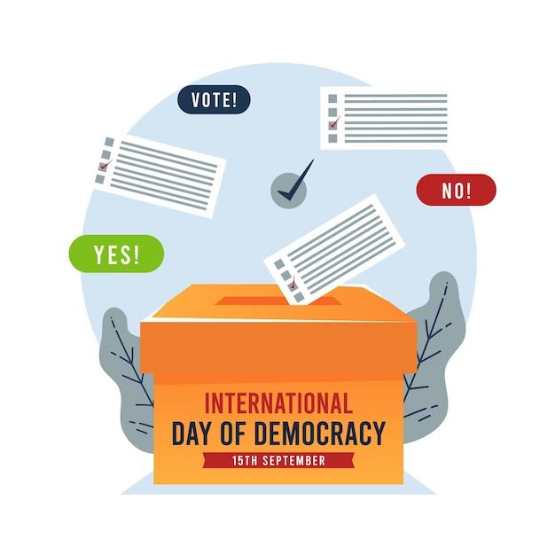 Dia internacional da democracia com votação Vetor grátis
