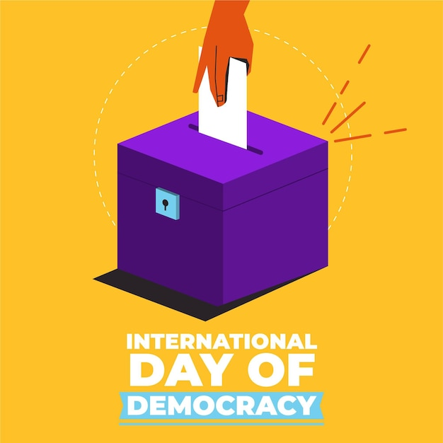 Dia internacional da democracia Vetor Premium