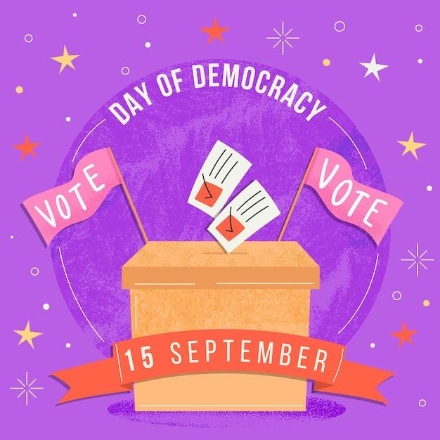 Dia internacional da democracia Vetor grátis