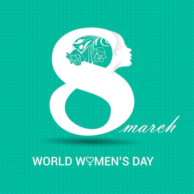 Dia internacional da mulher 8 de março Vetor grátis