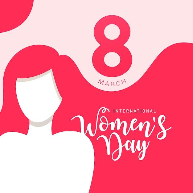 Dia internacional da mulher Vetor Premium