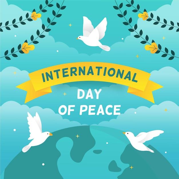 Dia internacional da paz Vetor grátis