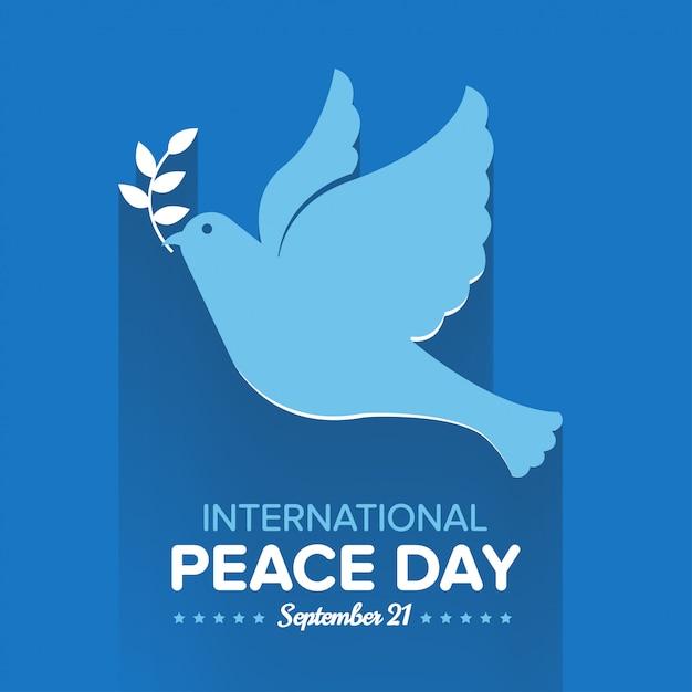 Dia internacional da paz Vetor Premium