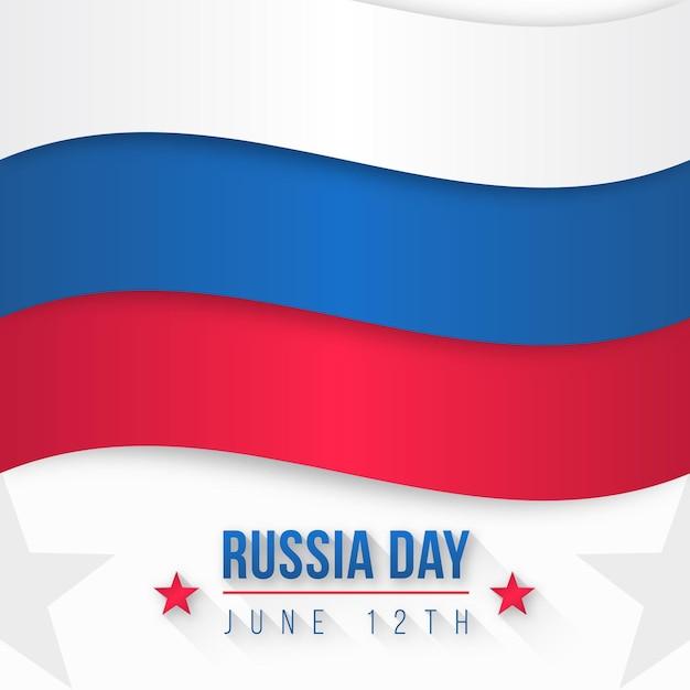 Dia internacional da rússia de design plano 12 de junho Vetor grátis
