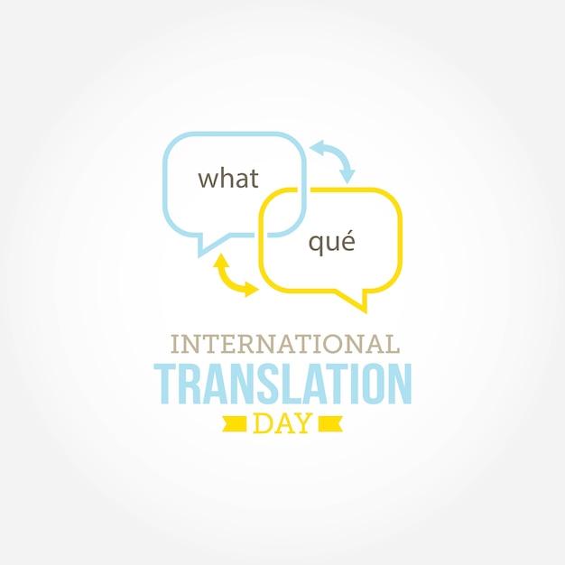 Dia internacional da tradução Vetor Premium