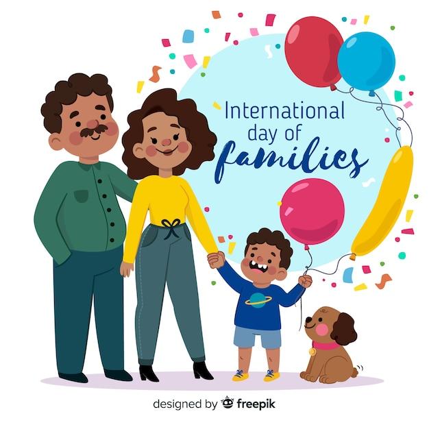 Dia internacional das famílias Vetor grátis