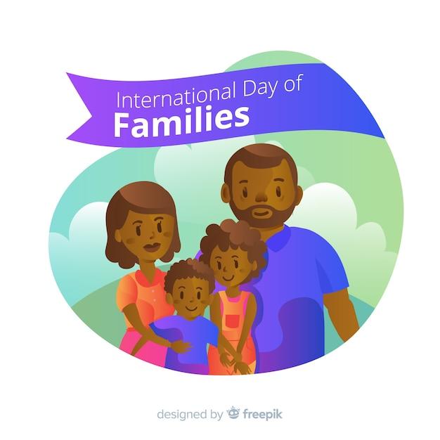 Dia internacional do background das famílias Vetor grátis