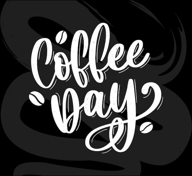 Dia internacional do café logotipo. dia mundial do café logo icon ilustração Vetor Premium