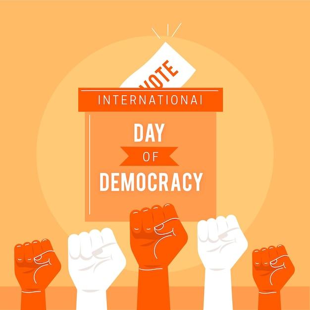 Dia internacional do conceito de democracia Vetor Premium