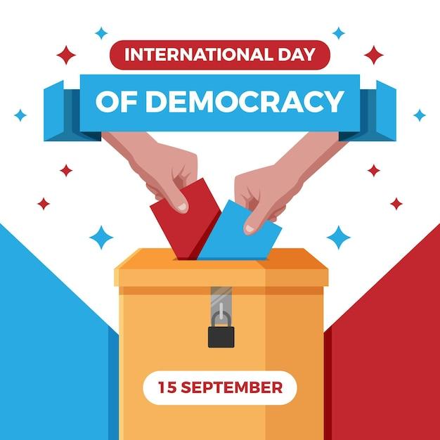 Dia internacional do conceito de democracia Vetor grátis