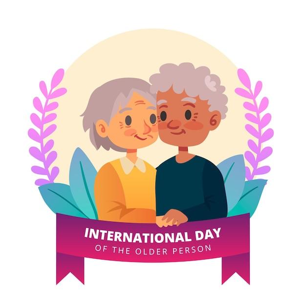 Dia internacional do conceito de idosos Vetor grátis