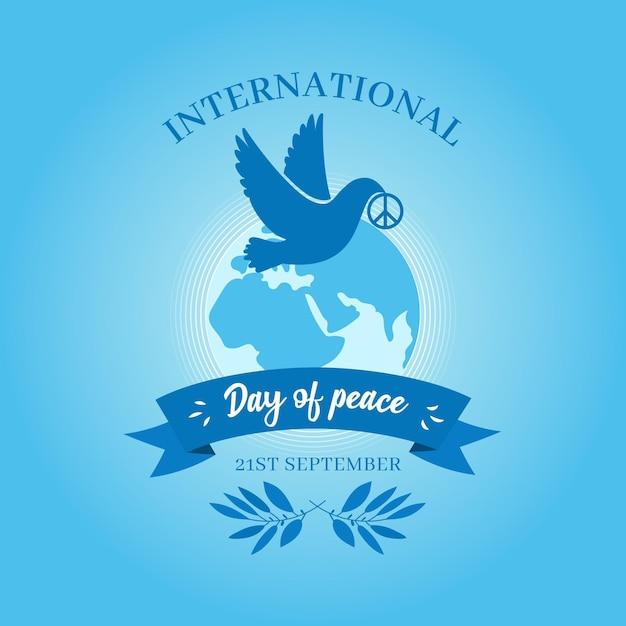 Dia internacional do design plano de fundo de paz Vetor grátis