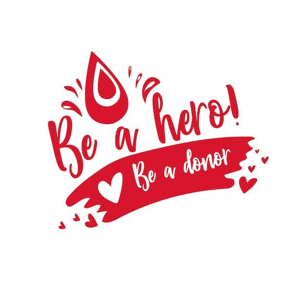 Dia internacional do doador de sangue Vetor Premium