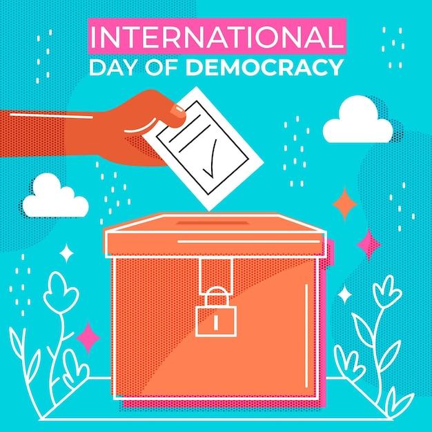 Dia internacional do evento democrático Vetor grátis