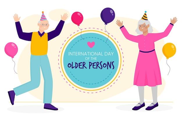 Dia internacional do idoso Vetor grátis