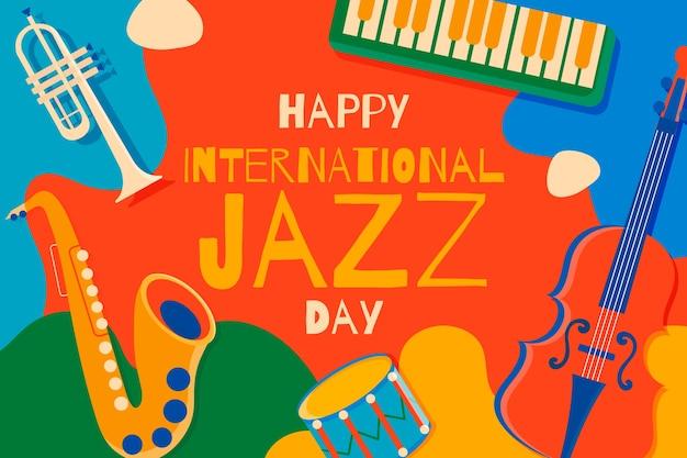 Dia internacional do jazz plano Vetor grátis