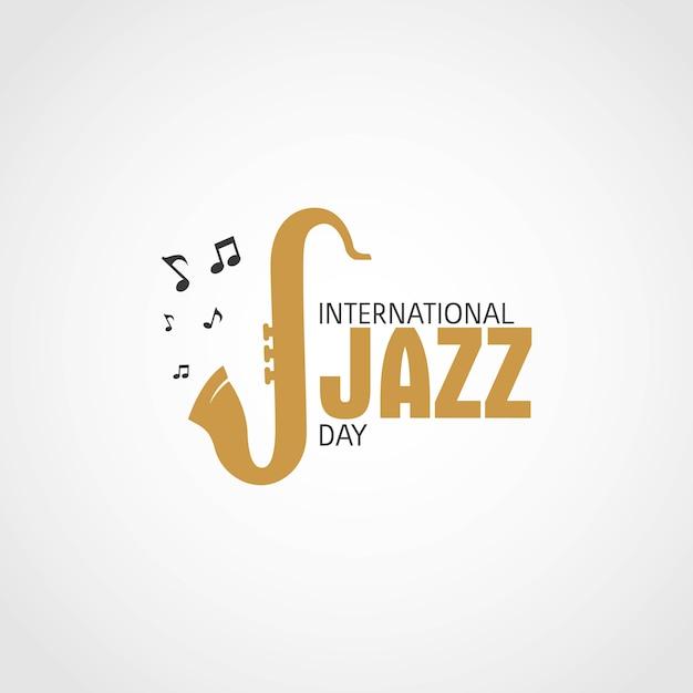 Dia internacional do jazz Vetor Premium