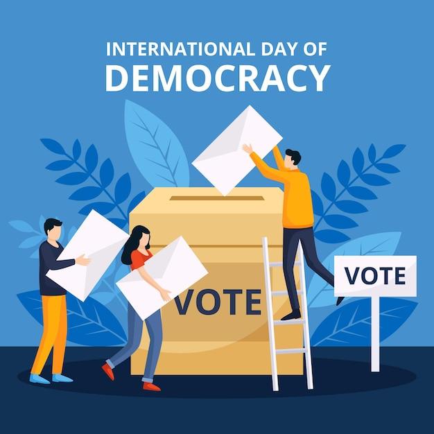 Dia internacional do tema da democracia Vetor grátis