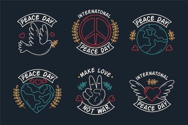 Dia internacional dos rótulos da paz Vetor grátis