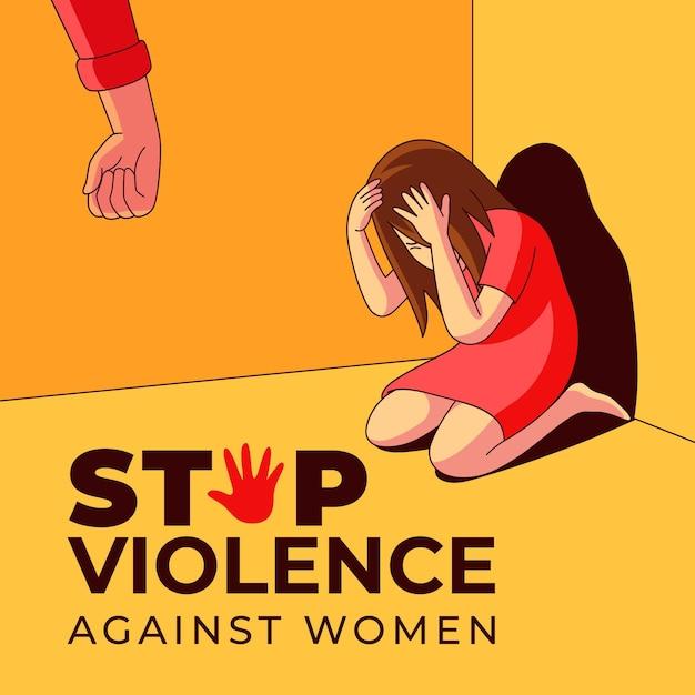 Dia internacional pela eliminação da violência contra as mulheres Vetor grátis