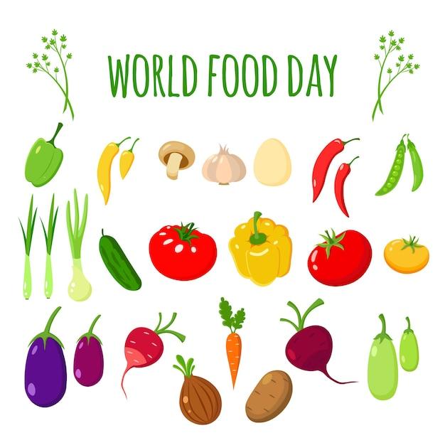 Dia mundial da alimentação Vetor Premium