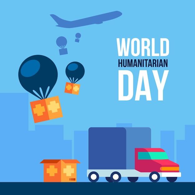 Dia mundial da humanidade Vetor grátis