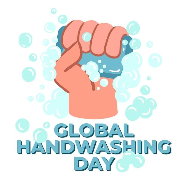 Dia mundial da lavagem de mãos Vetor Premium