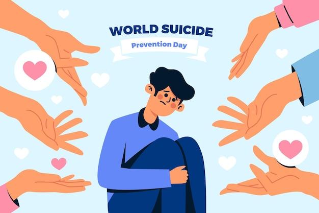 Dia mundial da prevenção do suicídio Vetor grátis
