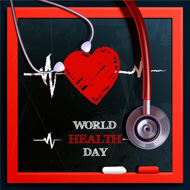 Dia mundial da saúde design realista Vetor grátis