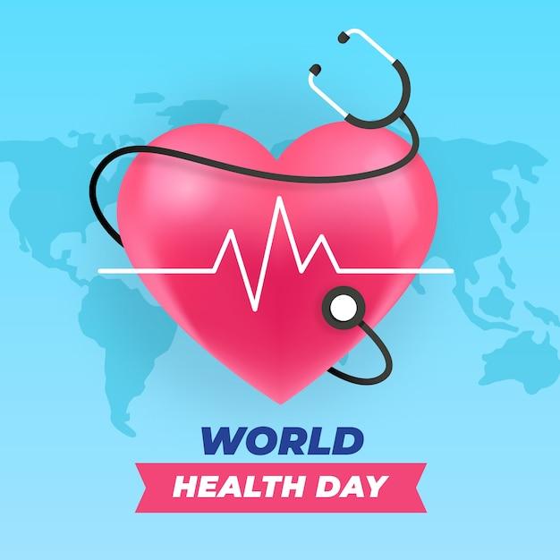 Dia mundial da saúde em design plano Vetor Premium