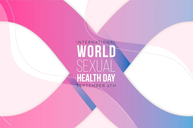 Dia mundial da saúde sexual de gradiente Vetor grátis
