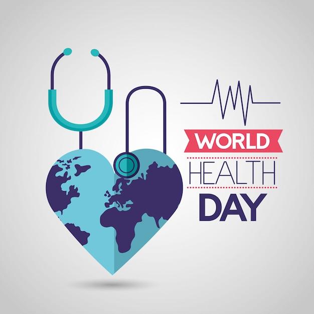 Dia mundial da saúde Vetor grátis