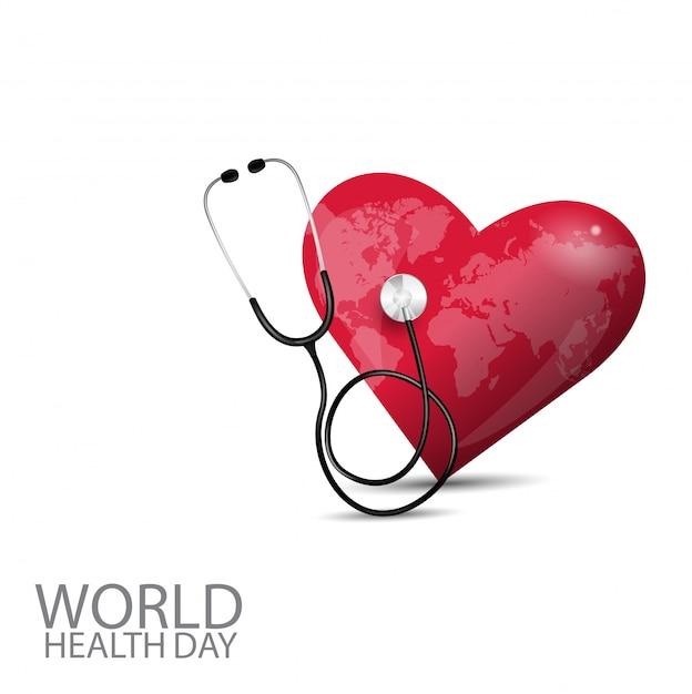 Dia mundial da saúde Vetor Premium