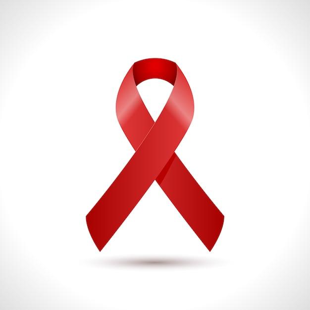 Dia mundial da sida design de ícone de fita Vetor Premium