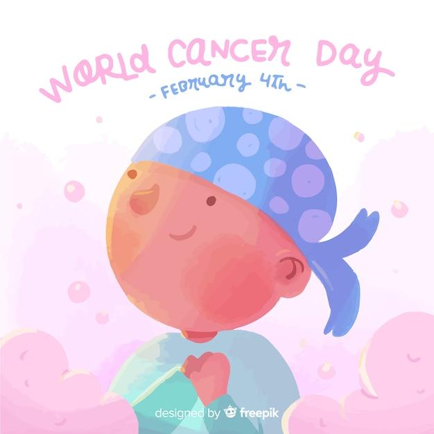 Dia mundial do câncer Vetor grátis