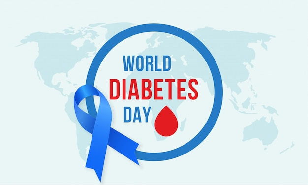 Dia mundial do diabetes Vetor Premium