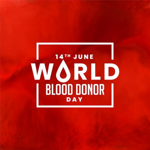 Dia mundial do doador de sangue vermelho Vetor grátis