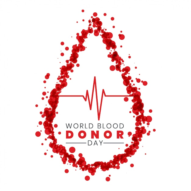 Dia mundial do doador de sangue Vetor grátis