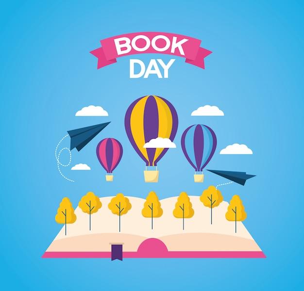 Dia mundial do livro Vetor grátis