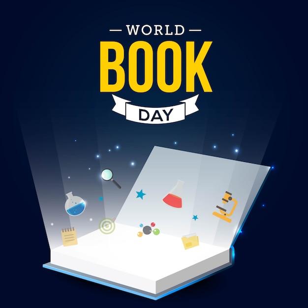 Dia mundial do livro Vetor Premium