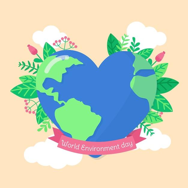 Dia mundial do meio ambiente estilo simples Vetor grátis