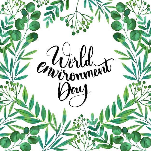 Dia mundial do meio ambiente Vetor grátis