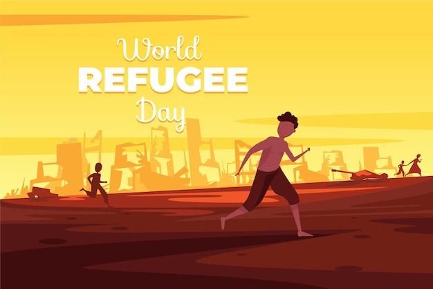Dia mundial dos refugiados Vetor grátis