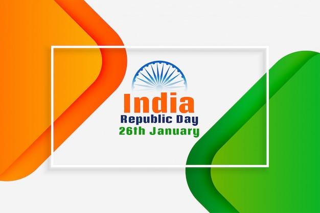Dia nacional da república indiana design criativo Vetor grátis
