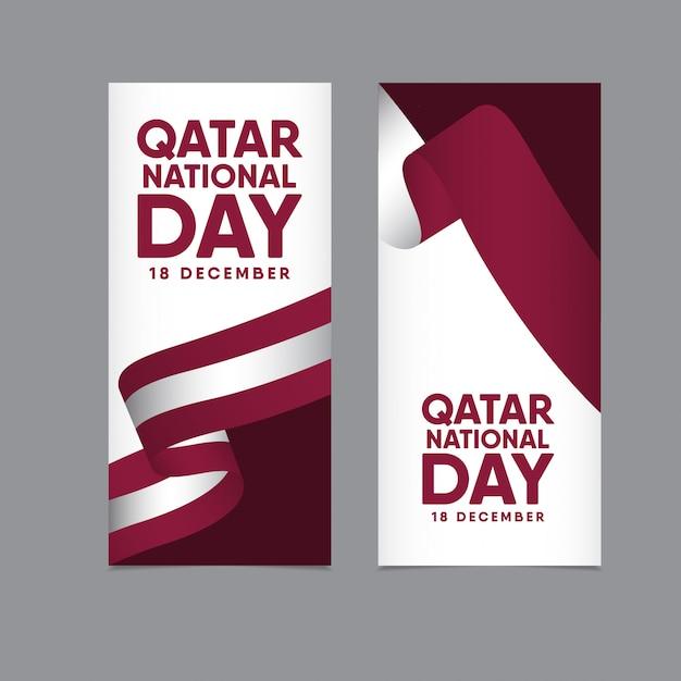 Dia nacional do qatar Vetor Premium