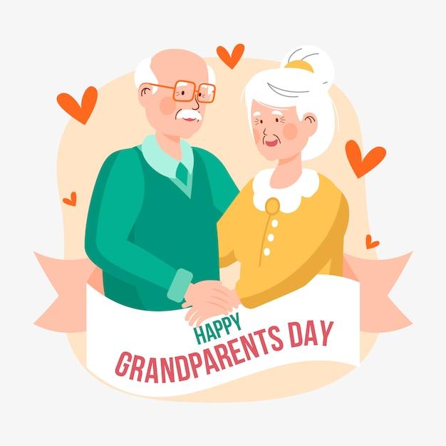 Dia nacional dos avós com os avós Vetor grátis