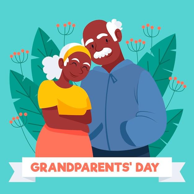 Dia nacional dos avós desenho Vetor grátis